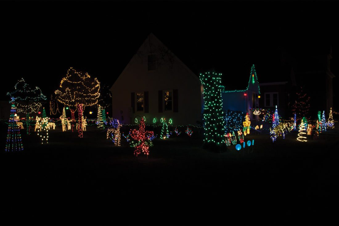 Trying to capture all of Mike and Janelle Boyum's Christmas lights and decorations in frame is no easy task. Mike Boyum has been avidly displaying lights around the holidays for over 20 years.