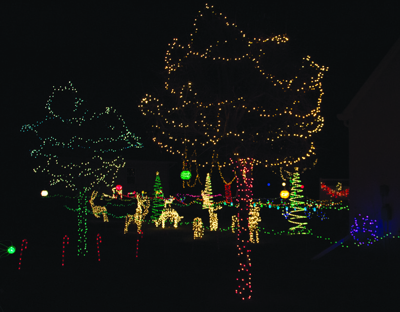 Boyum said that whenever certain lights burn out, he will fix it, but he also added that he has been fortunate with several of his lights continuing to work from year to year.