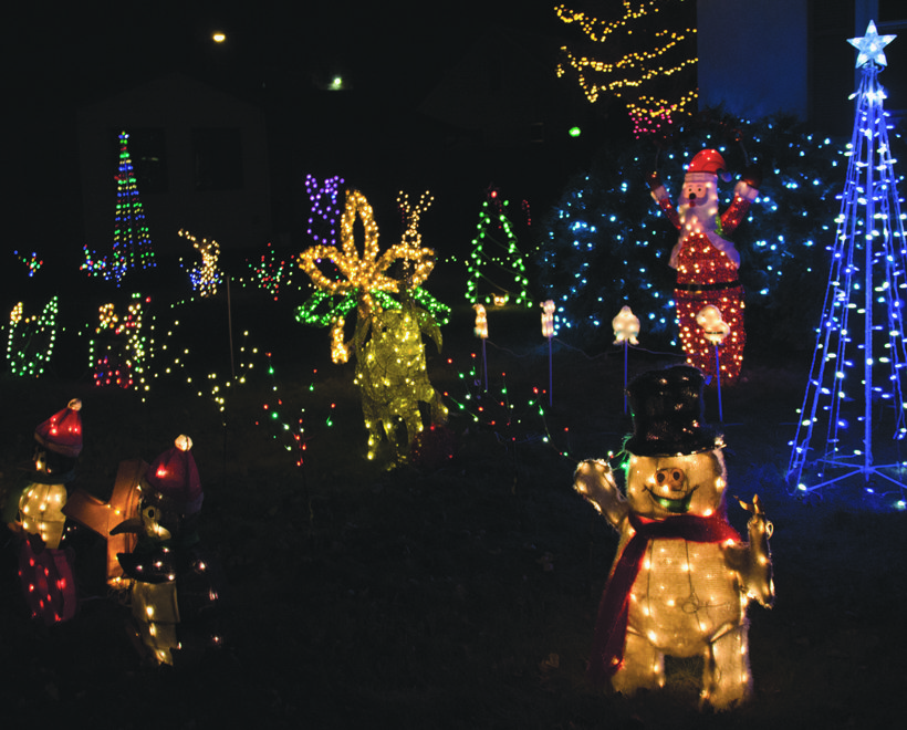 Boyum has made setting up Christmas decorations a regular hobby each season. When the holiday season begins , so does Boyum's show of lights.