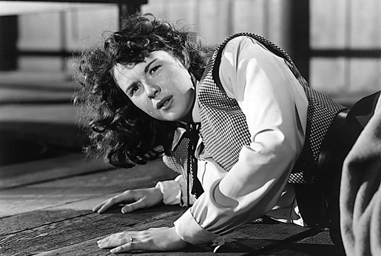 "IMDB.com Mala Powers in ""Outrage,"" (1950), the first film in the New Ulm Film Society's series of films by women directors. ""Outrage"" was directed by Ida Lupino."