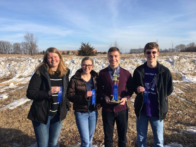 Submitted photo  Left to right, New Ulm Purple: Nori Ness, Emma Maudal, Peter Spengler and Jacob Todd.