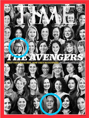 Submitted photo  This Time Magazine cover features Mindy Kimmel, of New Ulm, circled at upper left above the H.