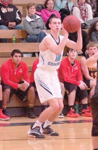 File photo by Steve Muscatello Minnesota Valley Lutheran's Jake Kettner is a big reason why the Chargers are off to a fast start. Kettner is averaging 23 points per game so far this season and surpassed the 1,000-point career mark on Friday.