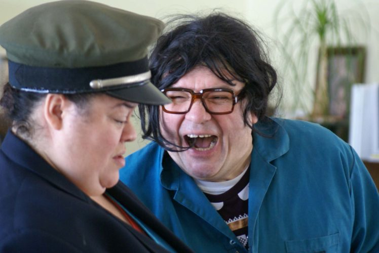 """Submitted photo  Thomasina Petrus as Teela, left, confronts Luverne Seifert as Dale Selby in Ten Thousand Things Theater's production of """"Park & Lake,"""" a new comedy by the cast with Kira Obolensky."""