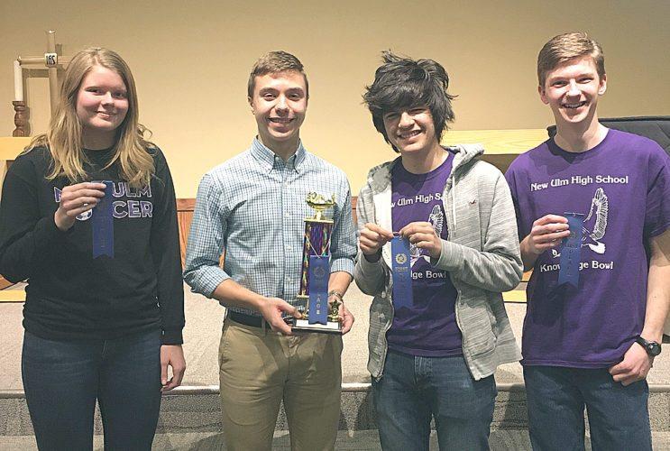 1st - NU Purple - (L to R) Norensa Ness, Peter Spengler, Rodrigo Tojo Garcia, and Jacob Todd.