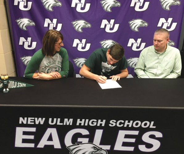 Submitted Photo Connor Foley's NLI signing with Bemidji State University on Tuesday.