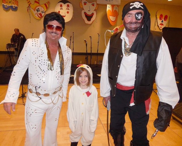 The 2018 Fasching Festival at the Best Western Plus Hotel featured a Costume Contest. After the Parade of Costumes, the winners were announced (from left) Stan Miller, New Ulm, first; Josie Lynn Moran, Mankato, third; and Rod Karnitz, New Ulm, second.