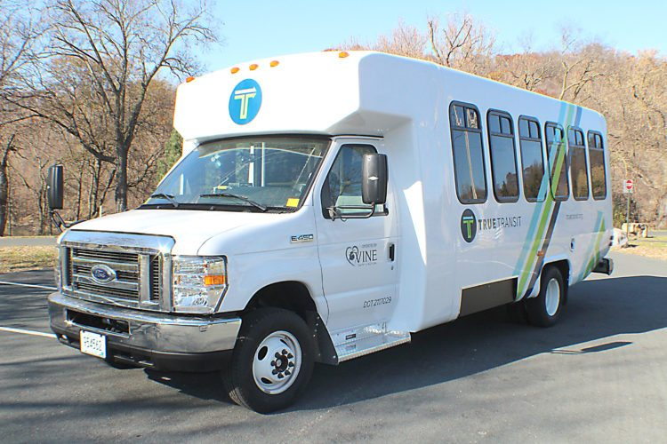 Submitted photo  Town Rural Urban Express (TRUE) Transit is offering a route from New Ulm to Mankato on Mondays. The photo shows the bus used.