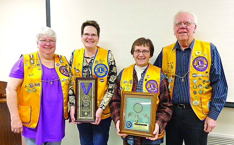 Submitted photo  Pictured, left to right, New Ulm Lions Club President Gayle O'Connor, Lion Sue Keim, Lion Diann Warta and Minnesota Lions Diabetes Foundation trustee Bob Schirlinger.