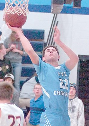 File photo by Steve Muscatello Minnesota Valley Lutheran's Jace Marotz makes a layup during a recent game at MVL.