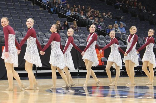 Submitted Photo The New Ulm Cathedral Sonics dance team participates in the Jazz competition at state at the Target Center on Friday.