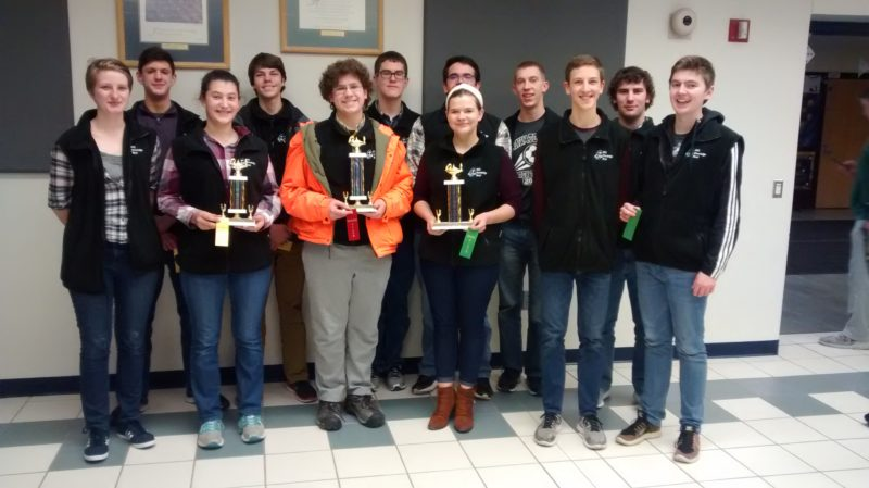 Submitted photo  MVL teams pictured, front, left to right, Stephanie Dose, Emma Niebuhr, Jonah Kramer, Daria Witte, Dylan Holtmeier, and Chip Hennig. Back, left to right, Kincaid Diersen, Ari Selvey, Marshall Mohror, Isaiah Koepsell, Blake Fosburgh, and John Niebuhr.