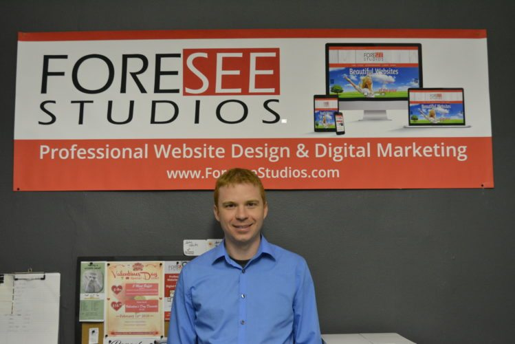Adam Towles is the owner and operator of Foresee Studios. The website design and marketing company has operated since 2008 but Towles opened his doors as a fully functional company in January.  Staff photo by Connor  Cummiskey