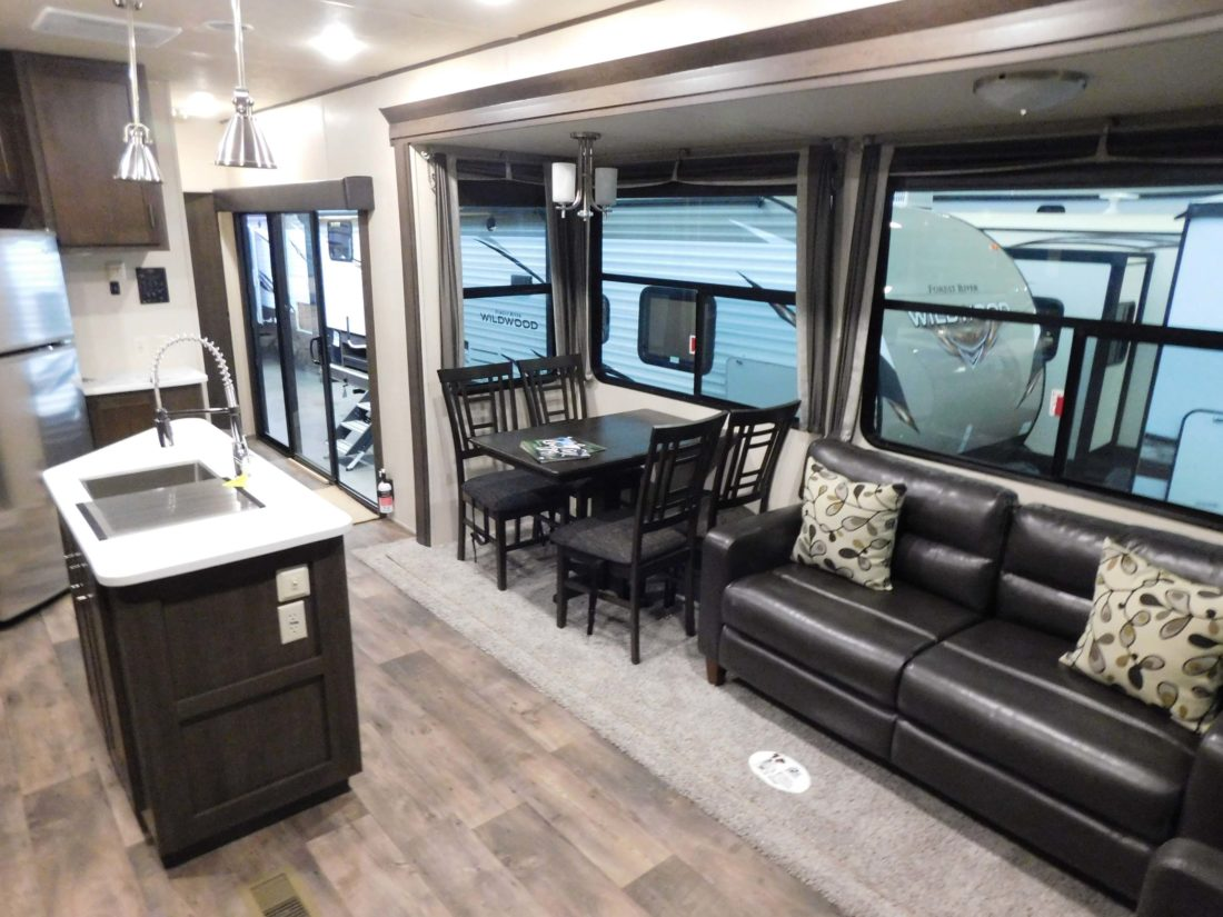 Staff Photo By Clay Schuldt The Interior Of Modern RV Camper Is Ultra With A Television Furniture And Sometimes Even Fire Place