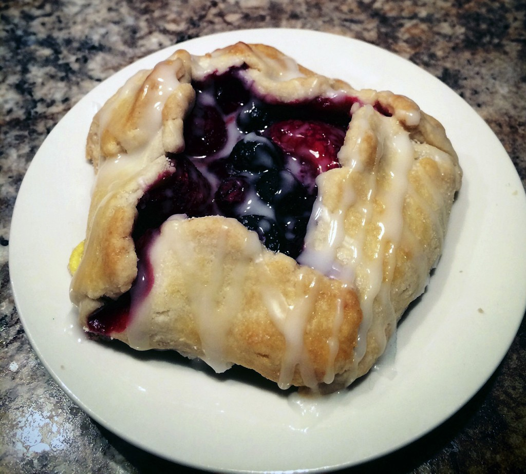 Free form triple berry hand pies. Courtesy photo by Cody Fitchett