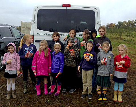 Elementary students from Mountain Laurel Montessori School in Front Royal traveled to Marker Miller Orchard in Winchester to glean apples for local charities and organizations in need. The children gleaned approximately 50 bags of apples.  The gleaning day was part of the school's 25 Acts of Kindness project, which encourages students and families to complete 25 selfless acts throughout the year. Courtesy photo
