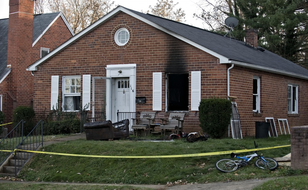 Fire gutted this Front Royal home off 16 West 4th Street on Monday morning. Fire Chief Richard E. Mabie of Warren County Fire and Rescue Services said no one was injured in the blaze, which caused about $30,000 in damage.   Rich Cooley/Daily