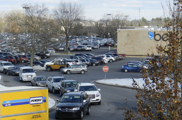Black Friday shopping traffic was heavy at many area stores, including the Apple Blossom Mall in Winchester.   Henry Culvyhouse/Daily
