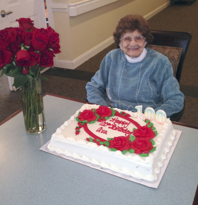 Ava Lam Tusing, a resident of Greenfield Senior Living in Woodstock, received over 100 cards celebrating her 100th birthday on Dec. 8.  Courtesy photo