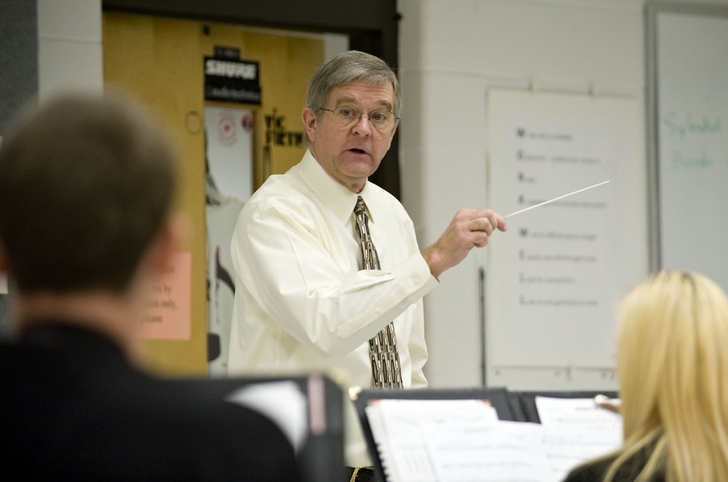 Robert Curry, band director at Stonewall Jackson High School in Quicksburg,  has published his fifth musical arrangement.  Rich Cooley/Daily