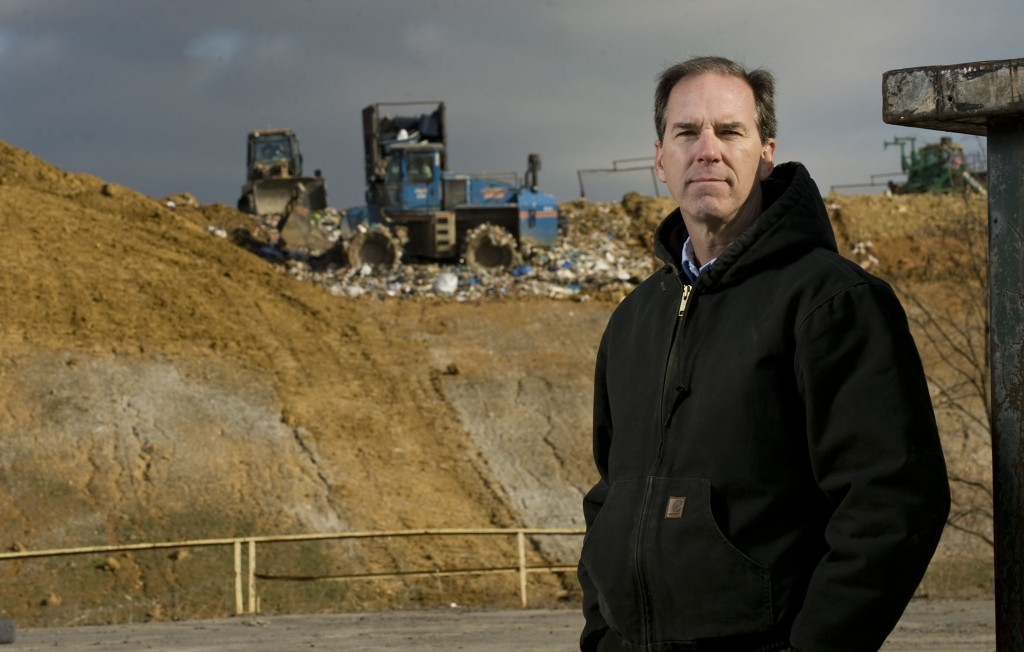 Patrick Felling stands outside the county landfill in Edinburg on Thursday. Felling, planner for Shenandoah County, has been named as Director of Solid Waste Management for the Shenandoah County Landfill. Felling will assume the new role on Jan. 12, 2015.  Rich Cooley/Daily