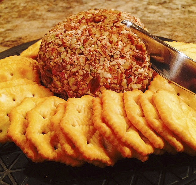 A cheese ball is a great appetizer to snack on throughout the night at any New Year's Eve party. Courtesy photo