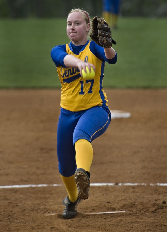 Central junior Bekah Ansbro announced her commitment to play softball for George Mason University on Wednesday night. Ansbro pitched to a 15-2 record and a 0.81 ERA and struck out 199 batters in 126 innings for the Falcons in 2014. Rich Cooley/Daily file