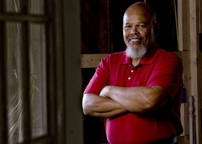 Ron Deskins, 67, of Mount Jackson was one of the first four black students to attend a desegregated public school in Virginia.  Rich Cooley/Daily