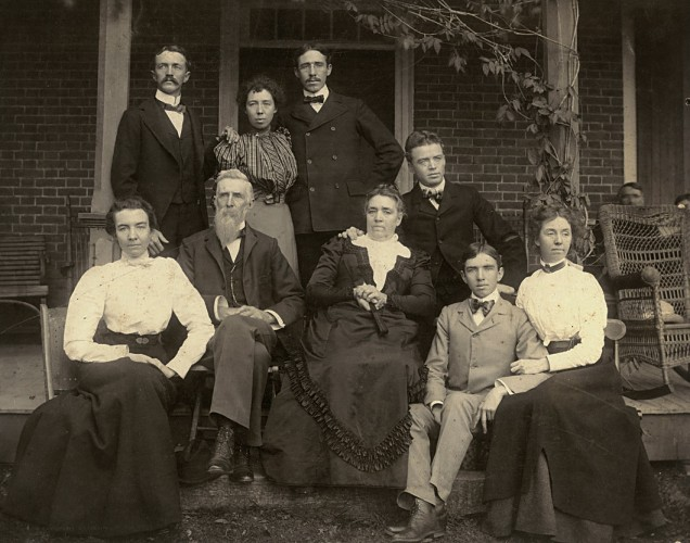 This photo of the William Wood Glass family was taken on the front porch of Winchester's Glen Burnie House in 1895.  The Museum of the Shenandoah Valley is hosting a free genealogy event  Saturday.  Photo  Courtesy: Museum of the Shenandoah Valley.