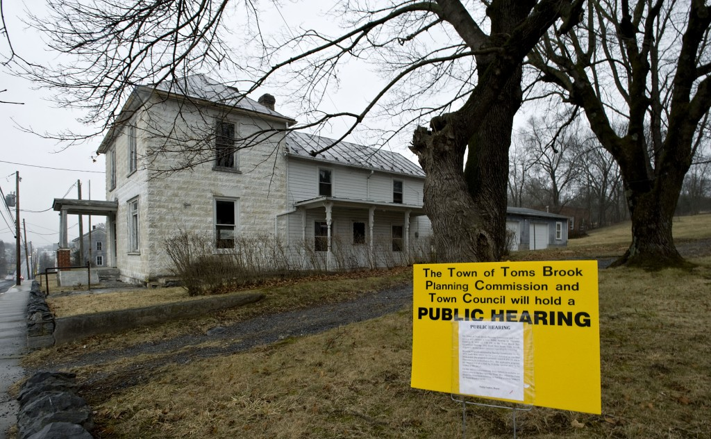 Dollar General wants to put a store on this property just south of the former Toms Brook School.  Rich Cooley/Daily