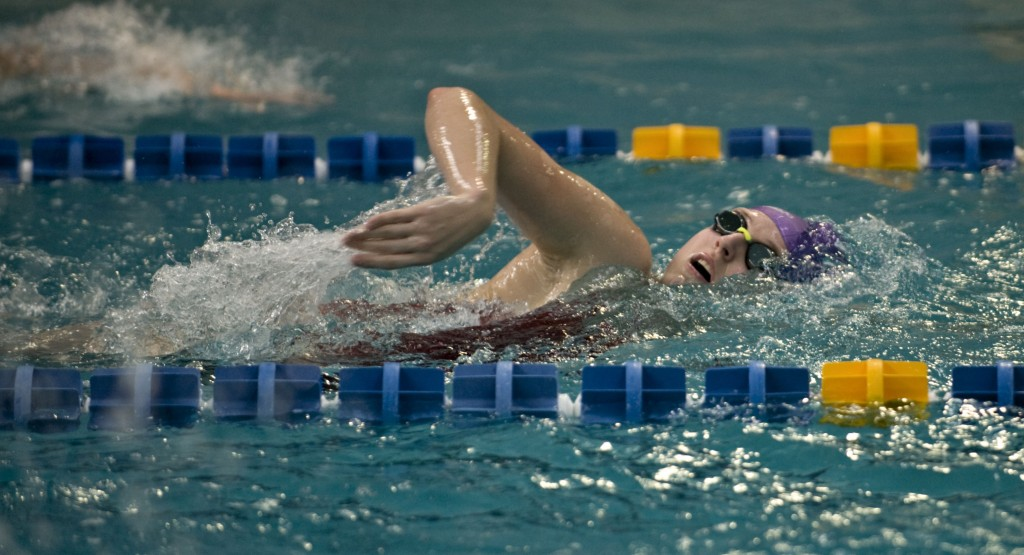 Sherando swimmer Laura Ferguson finished ninth in the 50 freestyle in the Group 4A state meet to cap off a strong senior season. Rich Cooley/Daily file