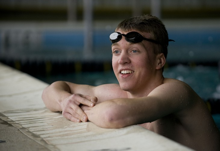 Central's Trevor Wolf, The Northern Virginia Daily's 2015 Boys Swimmer of the Year, ended his four-year swimming career with two top 10 finishes at the Group 3A state meet and was the area's top boys swimmer in the 50-yard freestyle and 100 free.   Rich Cooley/Daily