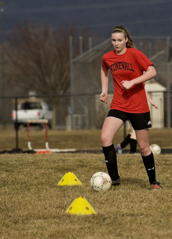 Brittany Singleton will help lead the Stonewall Jackson girls soccer team this season. Rich Cooley/Daily