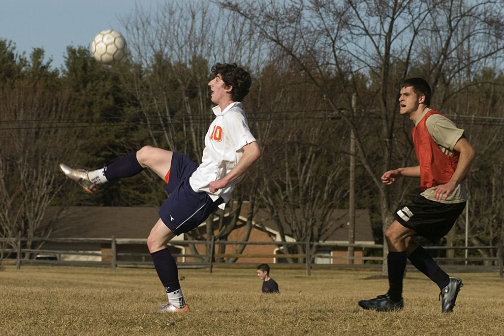 Sherando's Tommy Buono, left, is back to help lead an experienced Warriors squad on the soccer pitch this season.   Brad Fauber/Daily