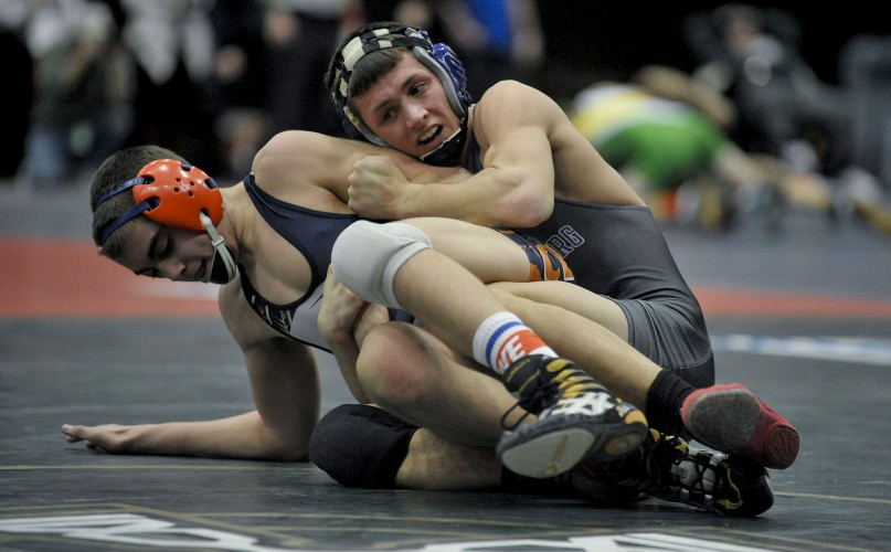 Strasburg's Nic Campbell, The Northern Virginia Daily's 2015 Wrestler of the Year, won the Group 2A 132-pound state wrestling championship this past season to become the first wrestler in school history to win four state titles.   Brad Fauber/Daily file