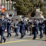 """The Randolph-Macon Academy Band and Parade Unit were awarded the """"Best Visiting Band"""" for their performance in the 44th Street St. Patrick's Day Parade in Washington, D.C., on March 15.  The R-MA drum major for the parade was junior William Long III of Front Royal. Courtesy photo"""