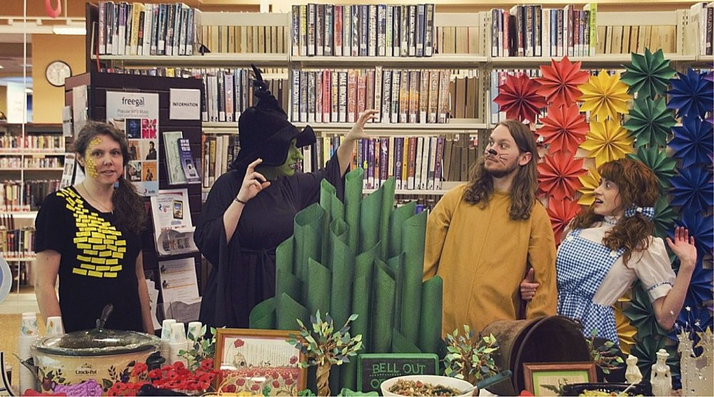 """Area residents Tamara Houde, Katie Sebring, Wyatt Vaught and Jessica Sayers dressed as characters from L. Frank Baum's """"The Wizard of Oz""""  at last year's Taste for Books held at Samuels Public Library in Front Royal.  Courtesy photo"""