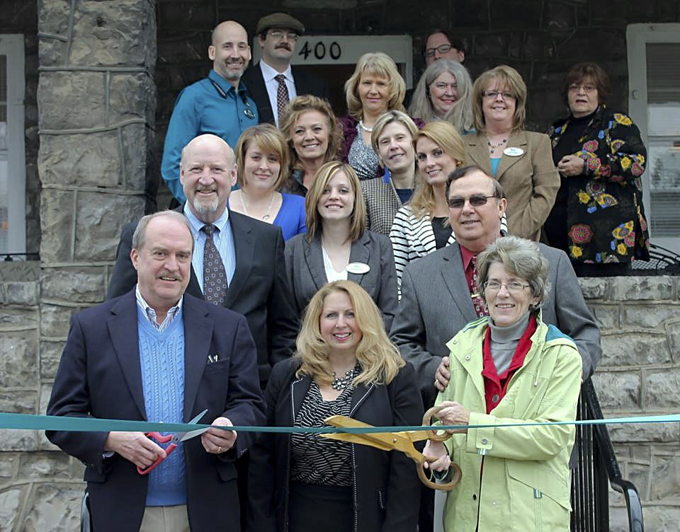 Avery-Hess Realtors celebrated the opening of its new office location at 400 N. Royal Ave., Front Royal on March 20. Shown here at the ribbon-cutting ceremony are front row, from left, Jim Eastham, Tracy Wenger and Linda Glavis; second row from left, Scott Avery, Emiley Boggs and Hollis Tharpe; third row, from left, Erica Higgins, Sherri Embrey, Katja Hom and Theresa Marshall; back row, from left, Adam Walsh, Josh Parker, Marilyn King, Jeremy Camp, Connie Smallwood, Donna Anderson and Deena Davis. Courtesy photo