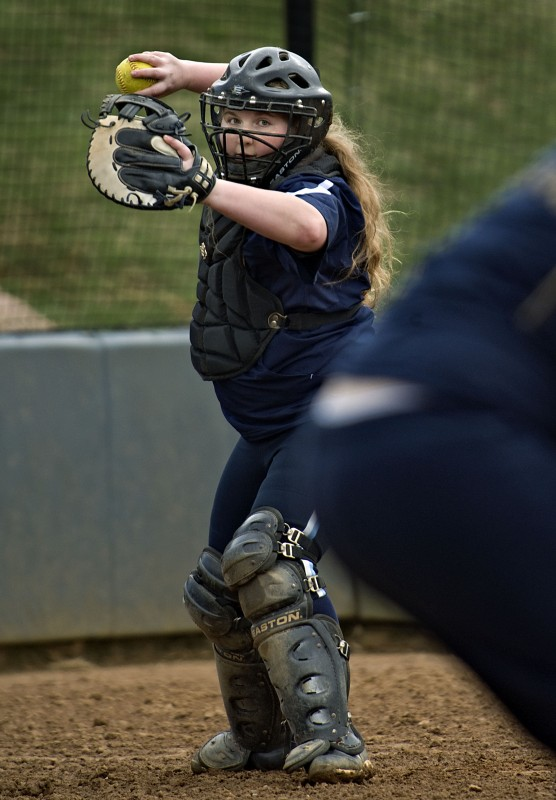 """Skyline senior catcher Sam Santmyers, whose nickname is """"Bubba,"""" has been a four-year starter for the Hawks and has been a valuable asset behind the plate. Rich Cooley/Daily"""
