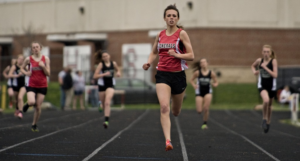 Stonewall Jackson's Hayley Gibson runs during a meet last season in Quicksburg.  Rich Cooley/Daily file