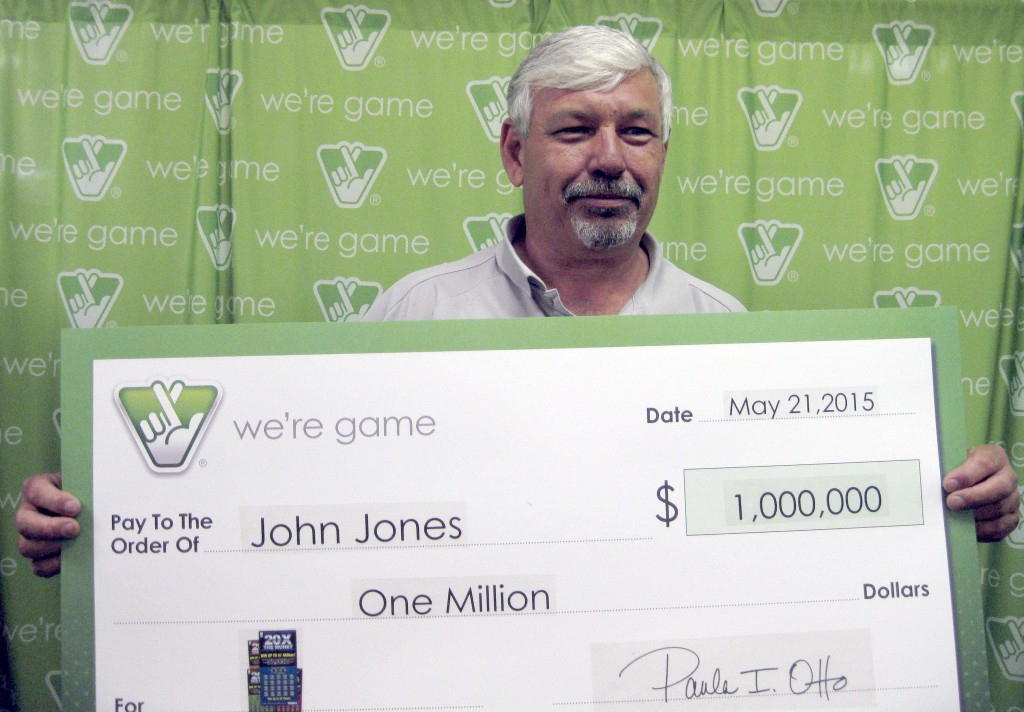 John Jones of Stephens City purchased a 20x The Money Scratcher ticket at a Strasburg store and won. He had a choice of a cool million over 30 years, or cash -- $537,393.   Virginia Lottery photo