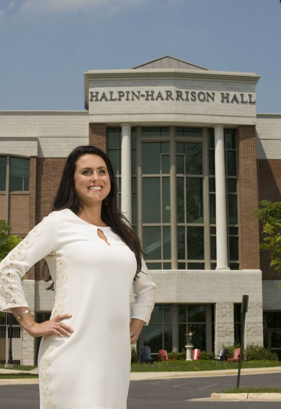 Julia Duke, a 36 year-old mother of two from Stephens City, will graduate from Shenandoah University's Harry F. Byrd, Jr. Business School this Saturday with a bachelor's degree in business administration.   Rich Cooley/Daily