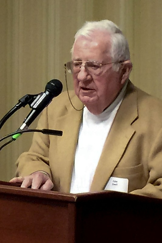 The Shenandoah Area Council Boy Scouts of America named retired Warren County General District Court Judge John F. Ewell its Distinguished Citizen of the Year at a special dinner to raise awareness of the Scouting program in Warren County on April 23 at the Holiday Inn in Front Royal.   Courtesy photo