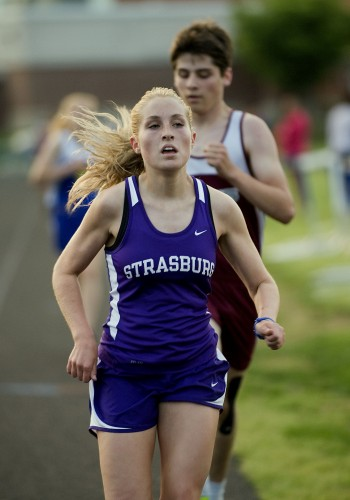 Strasburg's Rachel Tischler was all-state in both the 1,600 and the 3,200 this year. She placed third in the 1,600 and second in the 3,200 at the Group 2A state meet.   Rich Cooley/Daily