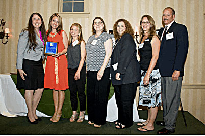 LFCC wins award Lord Fairfax Community College has been awarded Horizon Goodwill Industries' Mission Partner of the Year. Pictured left to right: Cathy Fleming, Jeanian Clark, Becky McKee, Amy Judd, Lyda Kiser, Melissa Williams and Bill Pence.   Courtesy photo