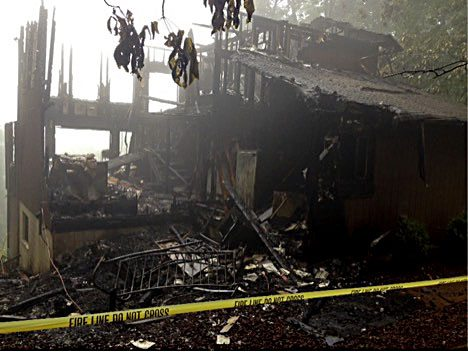 A Monday night fire destroyed this home in the High Knob subdivision in Front Royal.   Courtesy photo