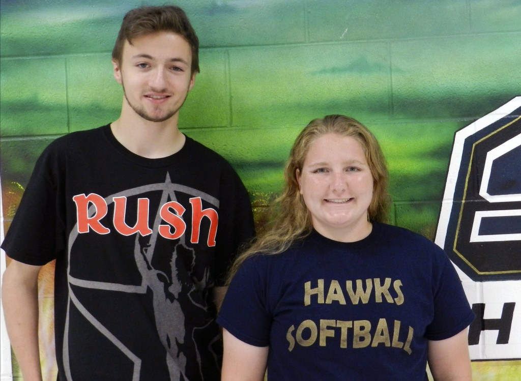 Max Bieryla, left, and Samantha Santmyers, both 17, are top students of the Skyline High School's class of 2015 and will graduate with 227 other seniors at the 9 a.m. ceremony today.  Josette Keelor/Daily