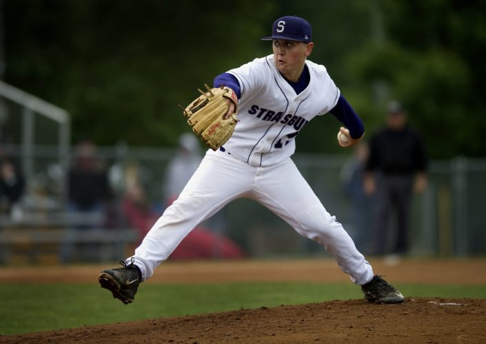 Strasburg pitcher Mark Smoot, The Northern Virginia Daily's 2015 Baseball Player of the Year, finished his senior season with an 11-1 record, a 1.27 ERA and 66 strikeouts. He was the VHSCA and VHSL Group 2A State Player of the Year.   Rich Cooley/Daily