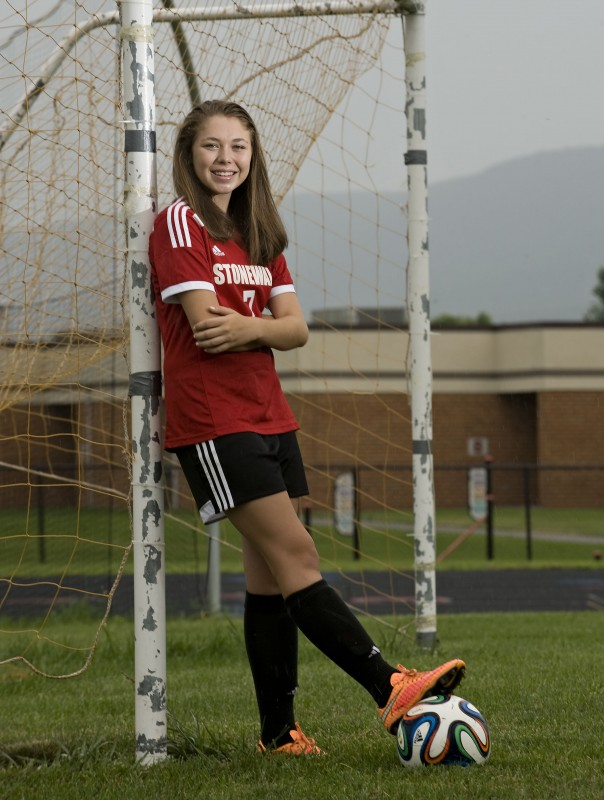 Stonewall Jackson's LuLu Funkhouser, The Northern Virginia Daily's 2015 Girls Soccer Player of the Year, led the area with 17 goals and 12 assists as a freshman this spring.   Rich Cooley/Daily