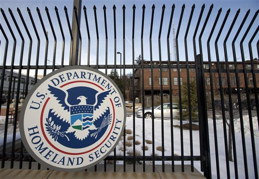 This Feb. 24 file photo  shows the Homeland Security Department headquarters in northwest Washington. The Department of Homeland Security said in a statement Thursday that data from the Office of Personnel Management and the Interior Department had been hacked.  AP file